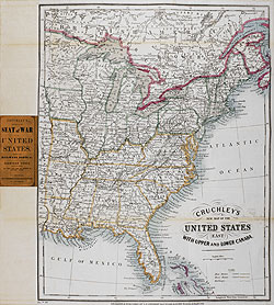 Cruchley's New Map of the United States (East) with Upper and Lower Canada